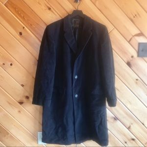 VINTAGE Mens' 1950s 100% Cashmere Overcoat M/L